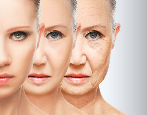 woman with wrinles removed after anti aging treatment