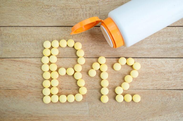 vitamin b12 pills spelling out B12