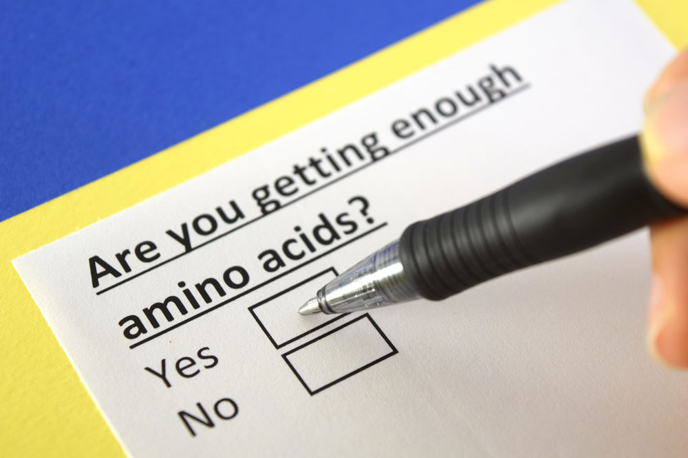 checkbox for getting enough amino acids
