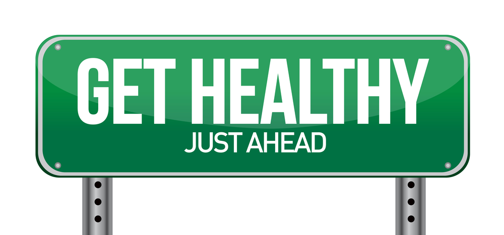 get healthy traffic sign