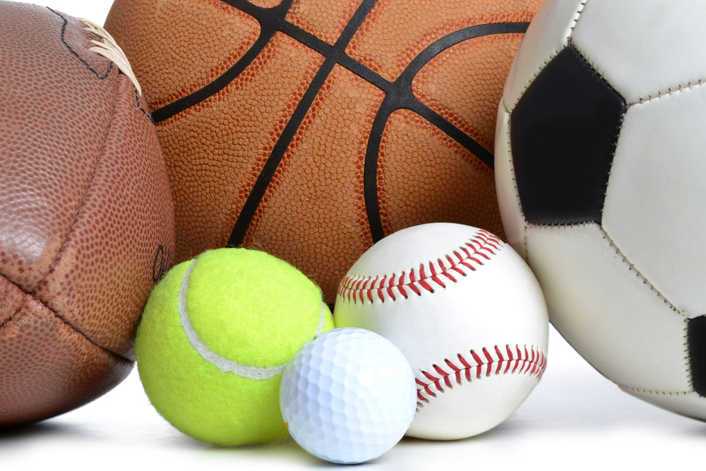 a collection of sports balls