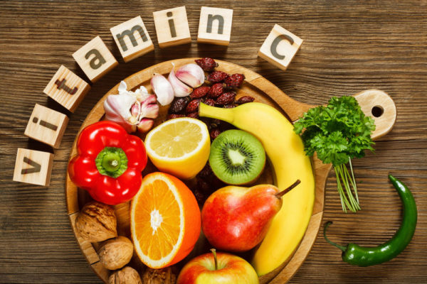 vitamin c platter of fruits and vegetables