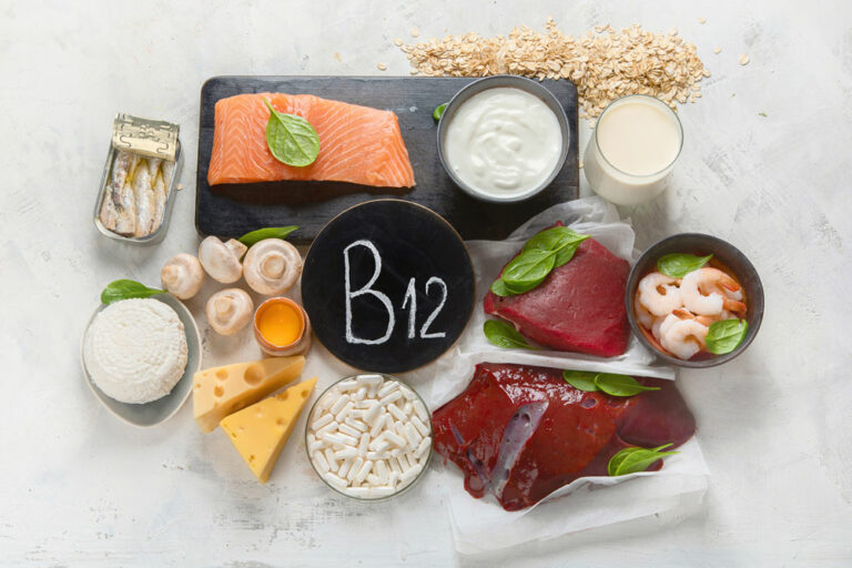 platter of foods that are rich in b12