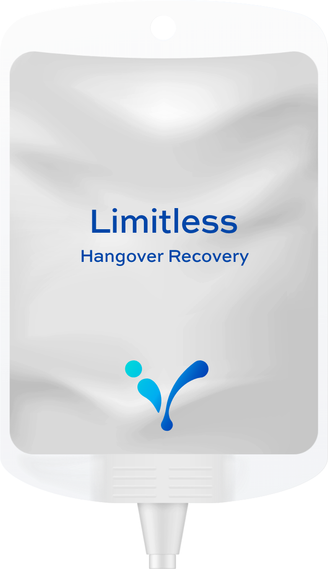 limitless hangover recovery ivmenow hydration therapy