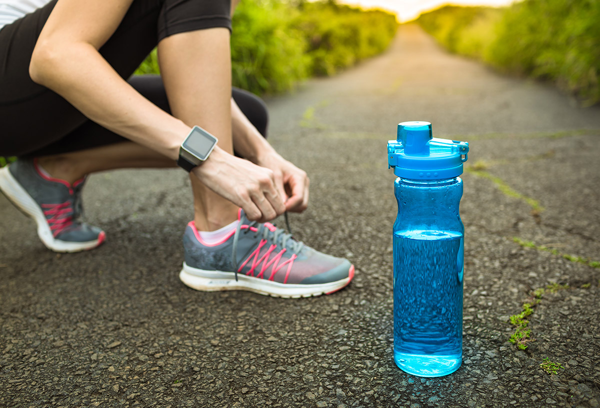 athlete ready to run after iv therapy hydration